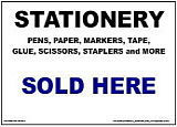 Stationery Sold Here Sign